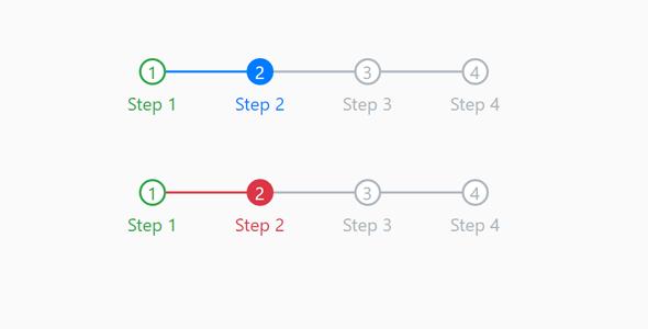 Bootstrap样式数字步骤样式代码源码下载