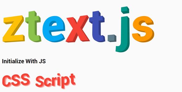 ztext.js 3d文本字体特效插件源码下载