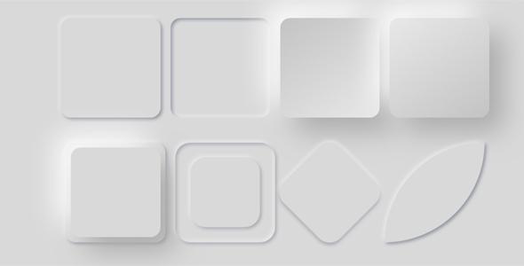 Neumorphic样式各种形状样式源码下载