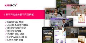 5种着陆页业务展示HTML模板