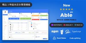 Bootstrap4&Angular11&React三套管理后台模板