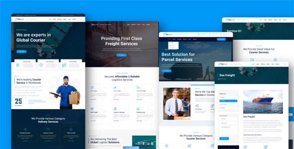 大气的物流货运行业网站HTML5模板
