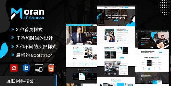 现代的IT解决方案互联网企业网站模板源码下载