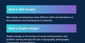 HTML & CSS FAQ问答手风琴样式
