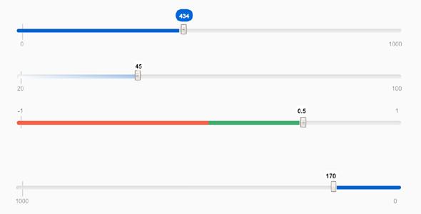 纯css范围滑块选择UI-Range