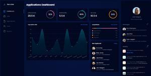 工作招聘管理面板UI模板