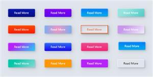 CSS按钮立体彩色样式