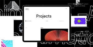 UI设计师作品展示网站模板