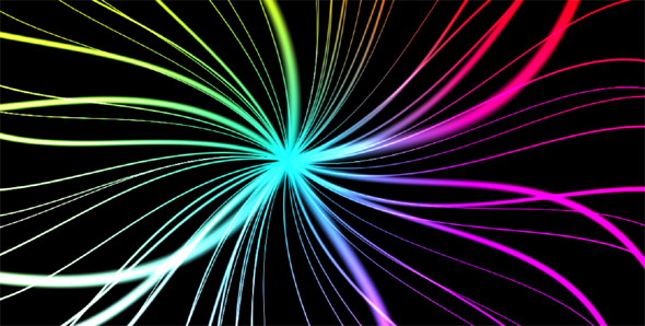 HTML5 Canvas全屏彩色线条发光动画特效源码下载