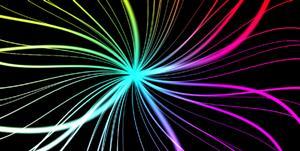 HTML5 Canvas全屏彩色線條發光動畫特效