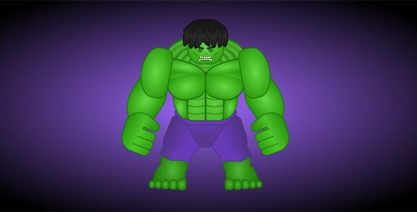 纯css代码绿巨人动画源码下载