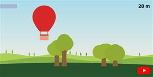 HTML5 Canvas热气球飞行小游戏代码