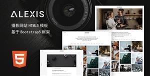 HTML5作品展示摄影网站网页模板