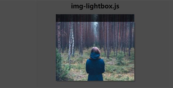 图片点击弹出放大插件img-lightbox.js