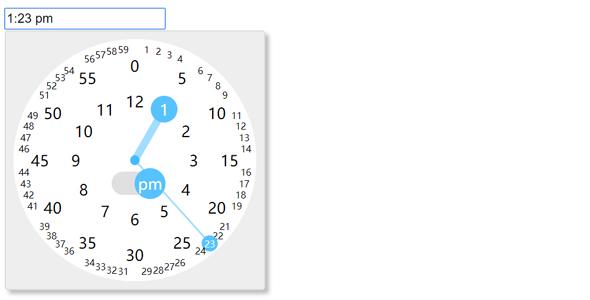 触屏手机端时间选择插件clocklet.js源码下载