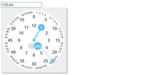 触屏手机端时间选择插件clocklet.js