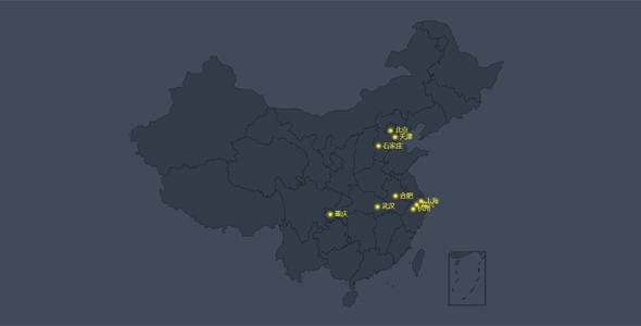 JavaScript中国地图圆点标注