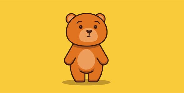 svg动画小熊盯着蜂蜜网页代码