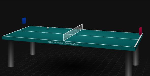 css3动画3d乒乓球台特效代码源码下载