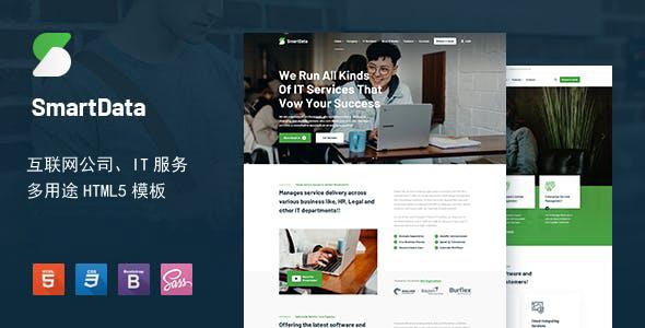 大气多功能互联网科技企业网站模板源码下载