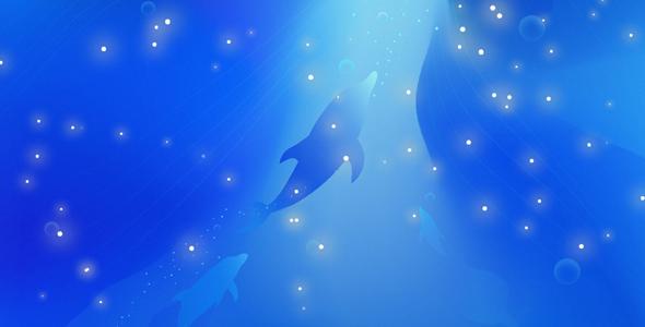 TweenMax蓝色梦幻海洋网页特效源码下载