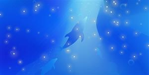 TweenMax蓝色梦幻海洋网页特效