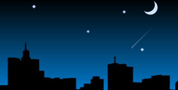 夜空流星css3动画特效