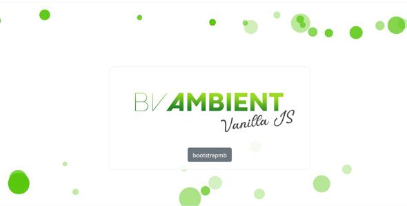 js粒子动态背景特效插件BVAmbient