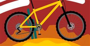 SVG動畫自行車地球特效