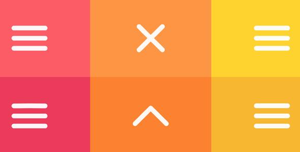 svg+js汉堡图表动画特效