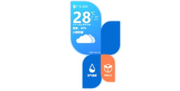 创意css3形状天气空气卡片样式源码下载