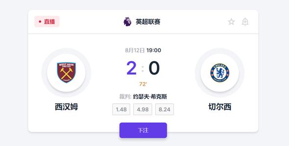 足球比赛下注css卡片样式源码下载