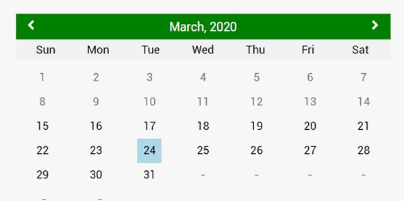带事件的日历插件TavoCalendar.js