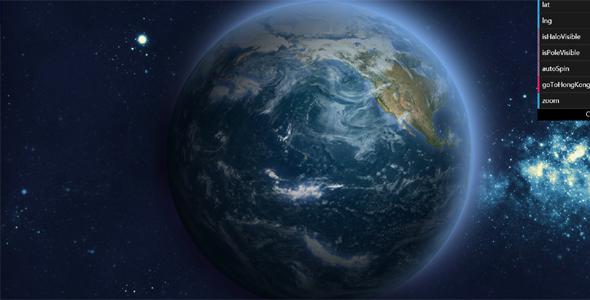 3D地球自转旋转网页动画特效源码下载