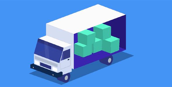 CSS3卡通货车图形网页特效源码下载