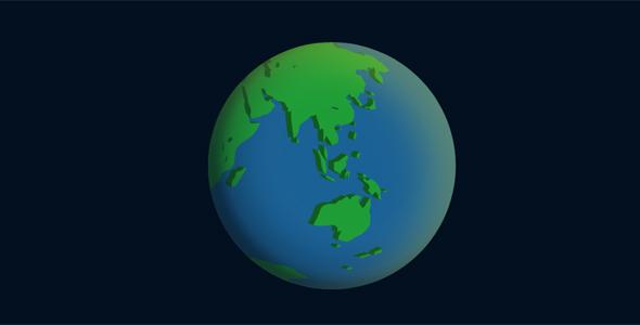 地球自转代码纯css3动画特效源码下载