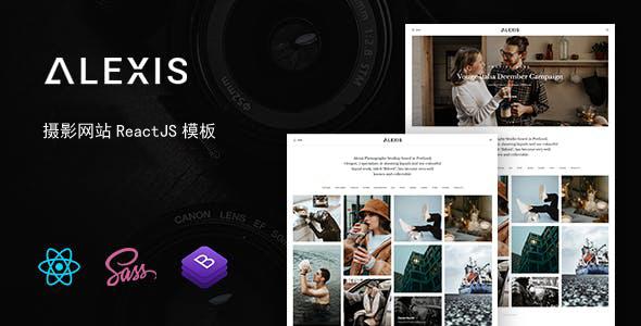 创意ReactJs作品项目展示网站模板