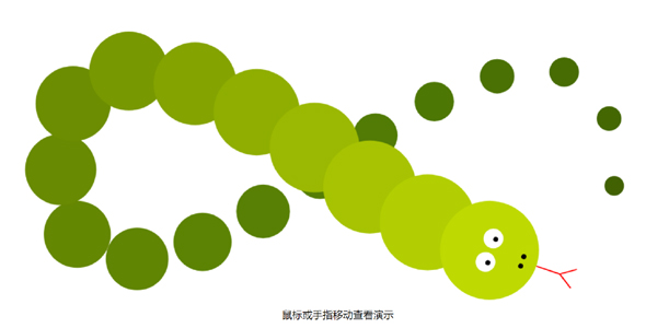 Canvas可爱贪吃蛇动画特效