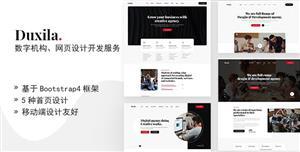 数字机构网页设计服务HTML模板