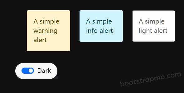 jquery+bootstrap5网页白色和黑色模式切换