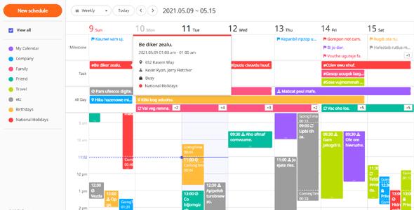 js全屏日历弹出详情插件tui.calendar源码下载