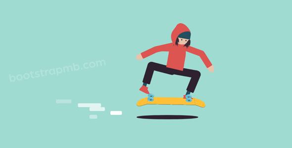 纯css3动画滑板网页特效