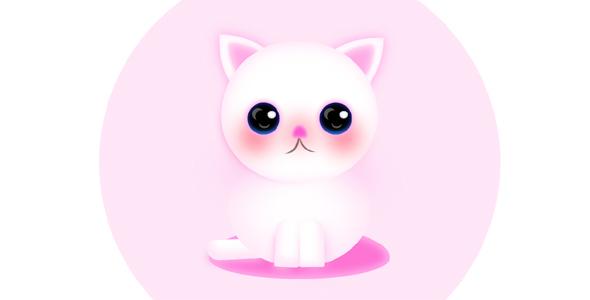 纯css代码粉色可爱小猫咪代码