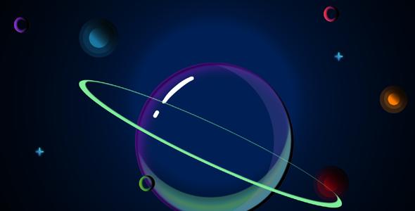纯css3绘制的卡通星球网页特效