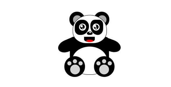 纯css绘制的大熊猫网页代码源码下载