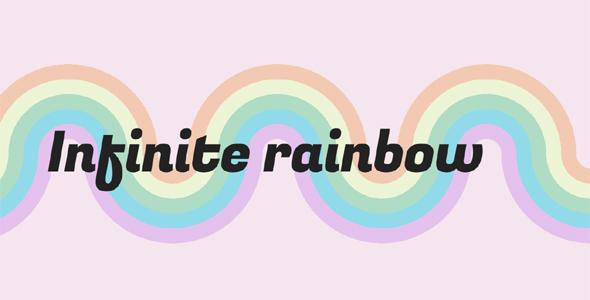 纯CSS3渐变彩虹样式动态特效