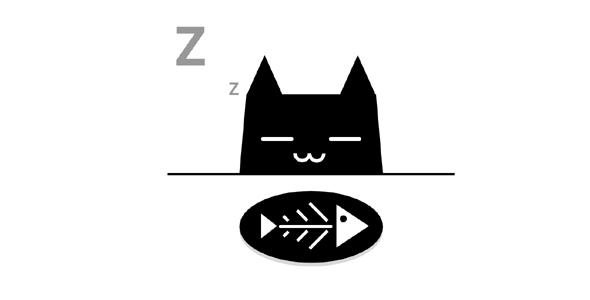 纯css代码小猫吃鱼动画特效源码下载