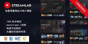 漂亮的視頻電影網站HTML5模板