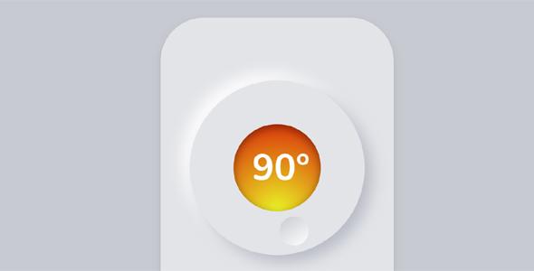 js css3温度控制按钮智能遥控器源码下载