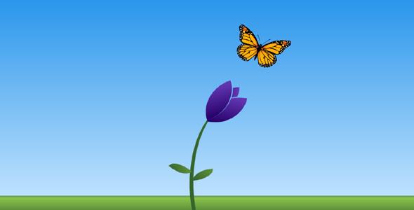 纯css代码蝴蝶鲜花动画特效